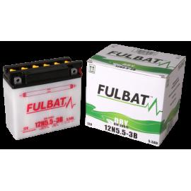 Akumulator 12N5.5-3B (suchy, obsługowy, kwas w zestawie) Fulbat