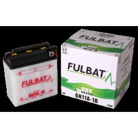 Akumulator 6N11A-1B (suchy, obsługowy, kwas w zestawie) Fulbat