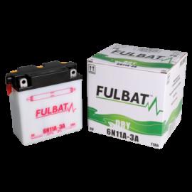 Akumulator 6N11A-3A (suchy, obsługowy, kwas w zestawie) Fulbat