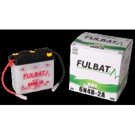 Akumulator 6N4B-2A (suchy, obsługowy, kwas w zestawie) Fulbat