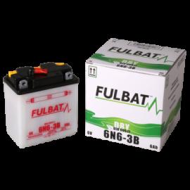 Akumulator 6N6-3B (suchy, obsługowy, kwas w zestawie) Fulbat