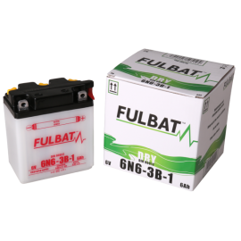 Akumulator 6N6-3B-1 (suchy, obsługowy, kwas w zestawie) Fulbat