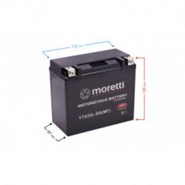 Akumulator do skutera i motocykla 18Ah AGM (Gel) MTX20L-BS Moretti