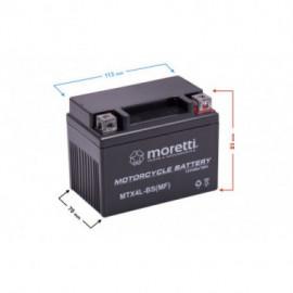 Akumulator do skutera i motocykla 4Ah AGM (Gel) MTX4L-BS Moretti